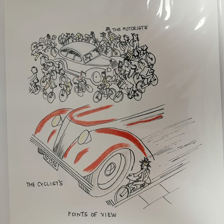 Cyclist Point of View Prints