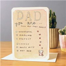 Dad you are.... card