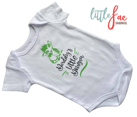 Daddy's Little Dragon Baby Body suit