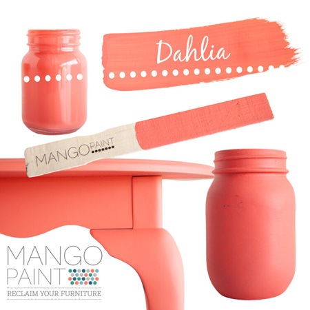 Dahlia Mango Paint