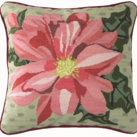 Dahlia Needlepoint Cushion Kit by Arna Horn