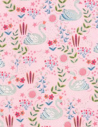 Dainty Swans Pink 6888