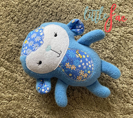 Daisy Blue Lamb Soft Toy