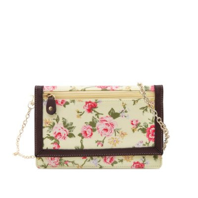 Daisy Collection 2-Fold Wallet/Shoulder Bag Yellow Rose