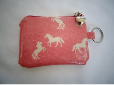 Daisy Collection Coin Purse Horse Pink