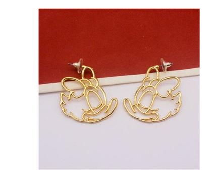 Daisy Hollow Earrings - Gold