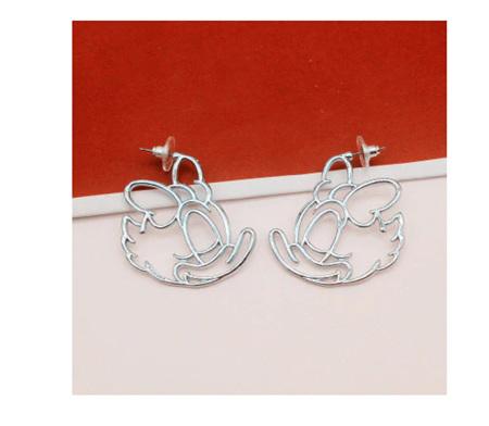 Daisy Hollow Earrings - Silver
