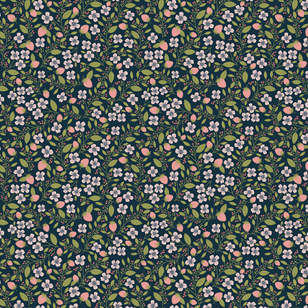 Daisy Mae Berry Blossoms Navy DM20120