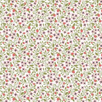 Daisy Mae Berry Blossoms White DM20118