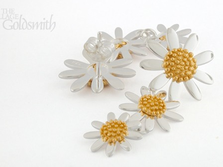 Daisy Triple Drop Earrings