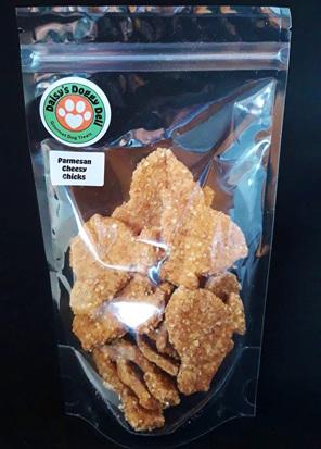 Daisy's Doggy Deli Parmesan Cheesy Chick cookies