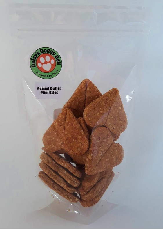 Daisy's Doggy Deli Peanut Mini Bite Cookies, white background