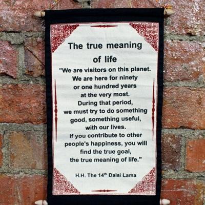 Dalai Lama Scroll