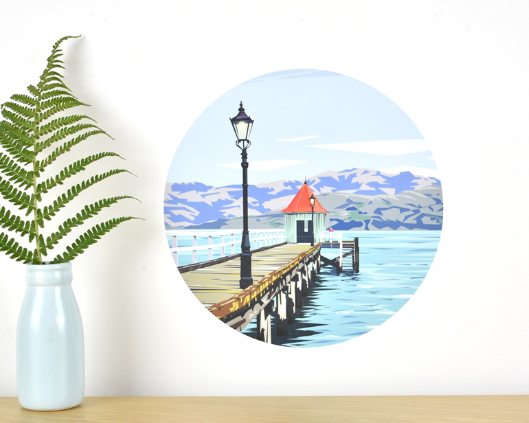 Dalys Wharf wall decal