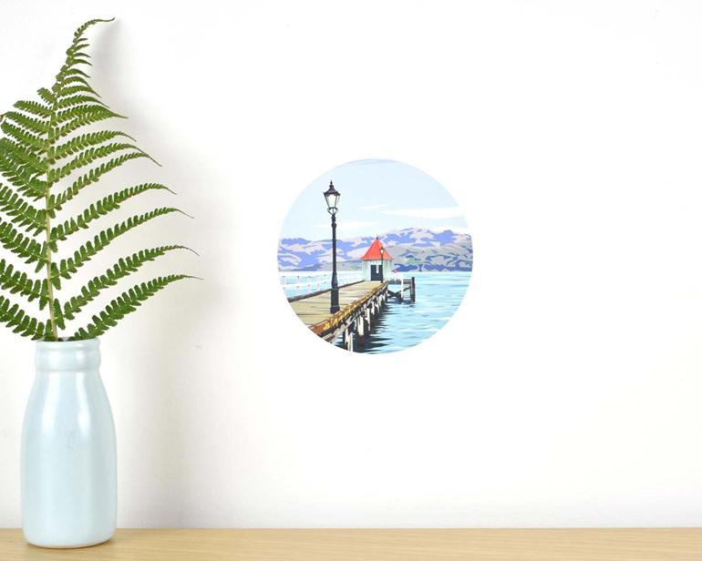 Dalys Wharf wall decal