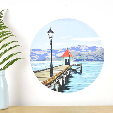 Dalys Wharf wall decal dot