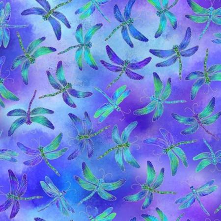 Dancing Dragonflies Iridescent Dragonflies Purple CM7946-Purple