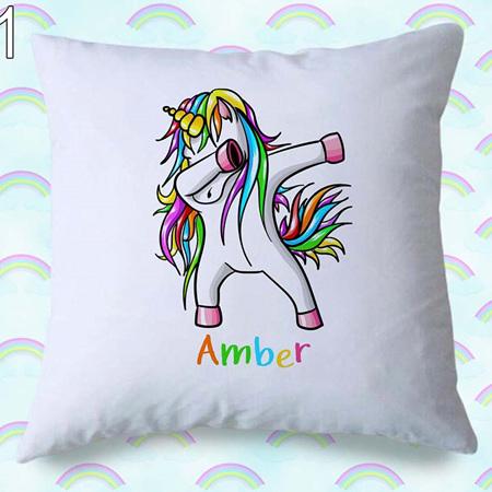 Dancing Unicorn Personalised Cushion Cover