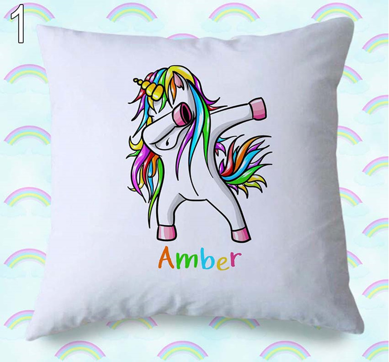 Dancing Unicorn Personalised Cushion Cover