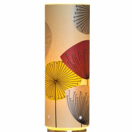 Dandelion Clocks Designer Wallpaper Lamp, Blackcurrant Colour Way