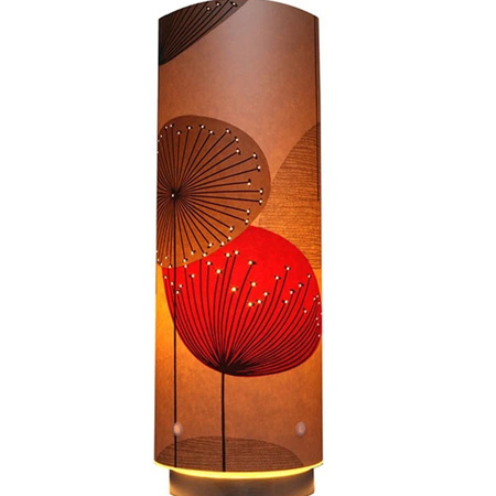 Dandelion Clocks Designer Wallpaper Lamp, Red Colour Way