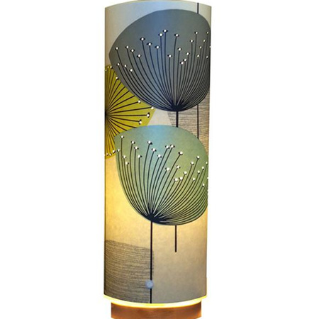 Dandelion Clocks Designer Wallpaper Lamp, Teal Blue Colour Way