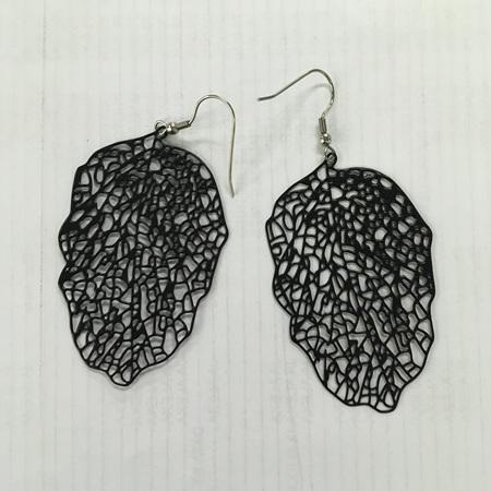 Danielle Skeleton Leaf Earrings