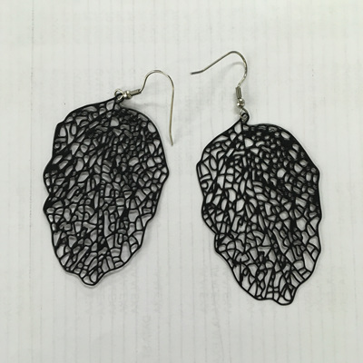 Danielle Skeleton Leaf Earrings