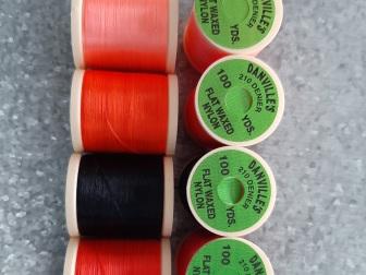 Danvilles 210 Denier Flat Waxed Thread - 5 spools