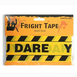 """""""Dare you"""" Halloween fright tape - 6m long!"""