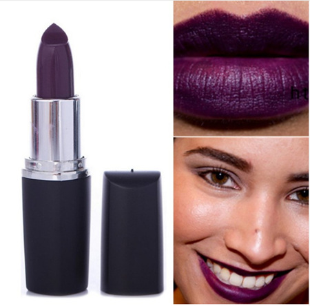 Dark Purple Matte Lipstick - #05
