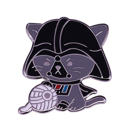 Darth Vader Cat Enamel Pin