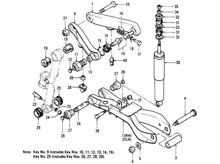 Datsun 620 Ute - Front Suspension Parts