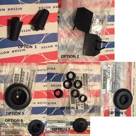 Datsun B110 1200 Rubber Parts
