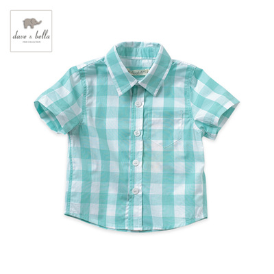 Dave and Bella summer Green check shirt