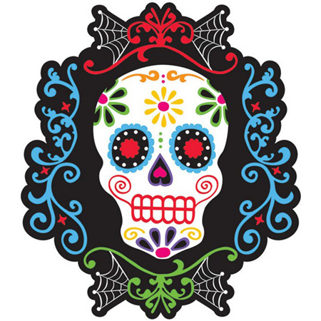 Day of Dead cardboard cutout - double sided 26cm