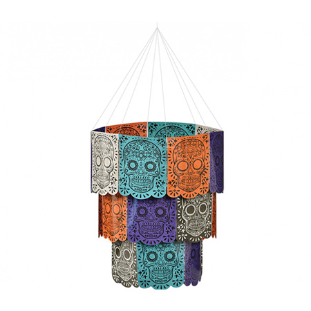 DAY OF THE DEAD CHANDELIER HANGING DECORATION - paper