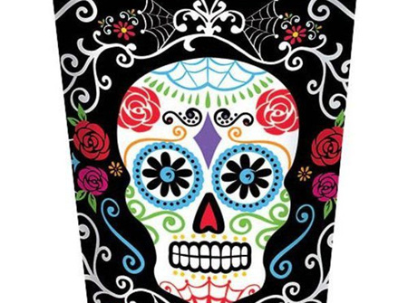 Day of the Dead paper cups