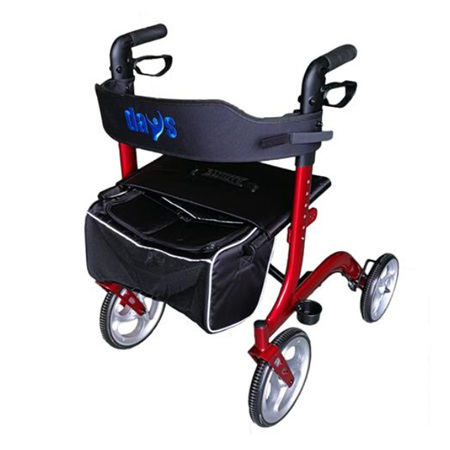 DAYS DELUXE ROLLATOR RED