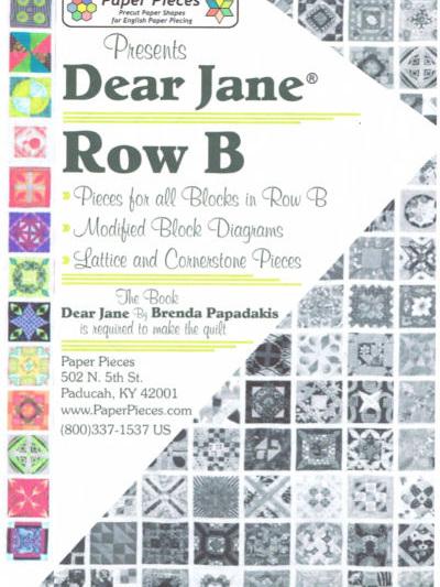 Dear Jane - Row B pack