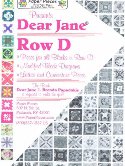 Dear Jane - Row D Pack