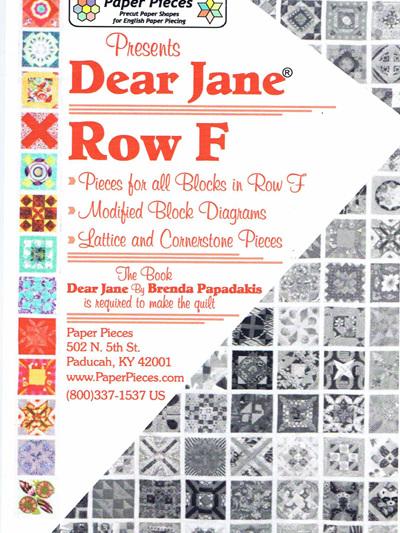 Dear Jane - Row F Pack