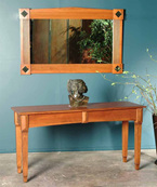 Deco designed Hall Table and Mirror