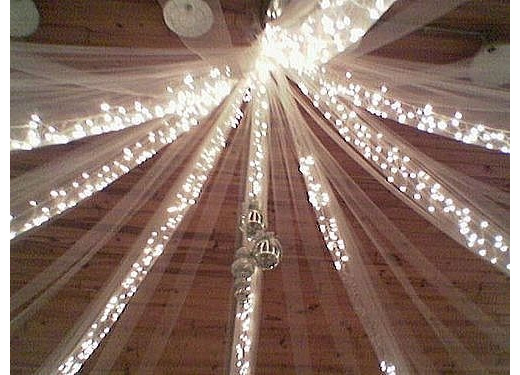 Ceiling fairy lights decoration party lights company ceiling draping with fairy lights to transform a venue to a beautiful airy and welcome room aloadofball Image collections