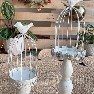 Decorative Metal Bird Cages Center piece - Ivory