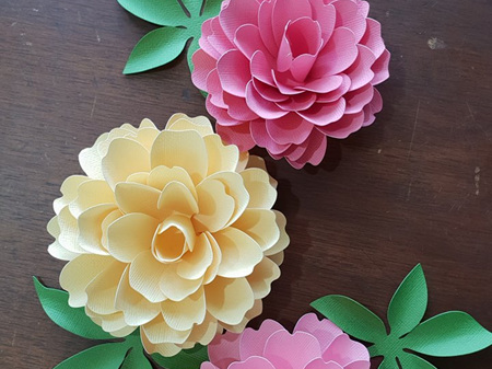 Decorative paper flowers