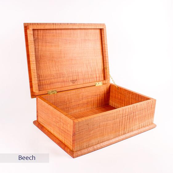 deeds box - beech