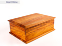 deeds box - heart rimu