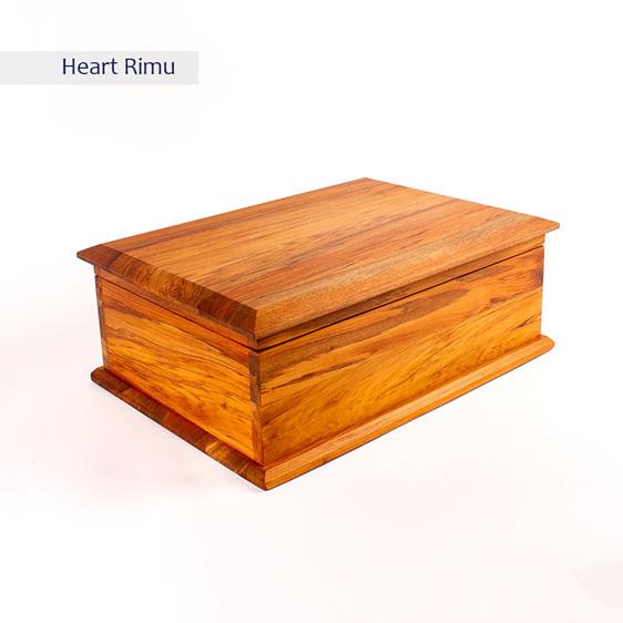 deeds box - heart rimu