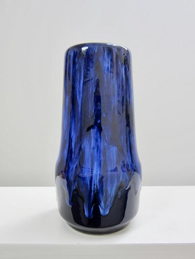 Deep Cobalt Blue West German Pottery Vase